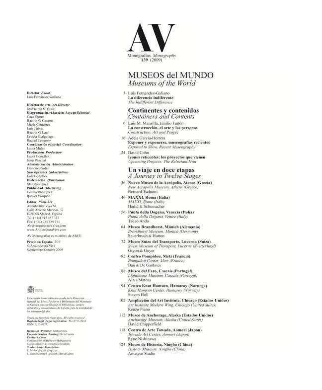 AV Monografías 139 MUSEOS del MUNDO Twelve World Museums - Preview 1