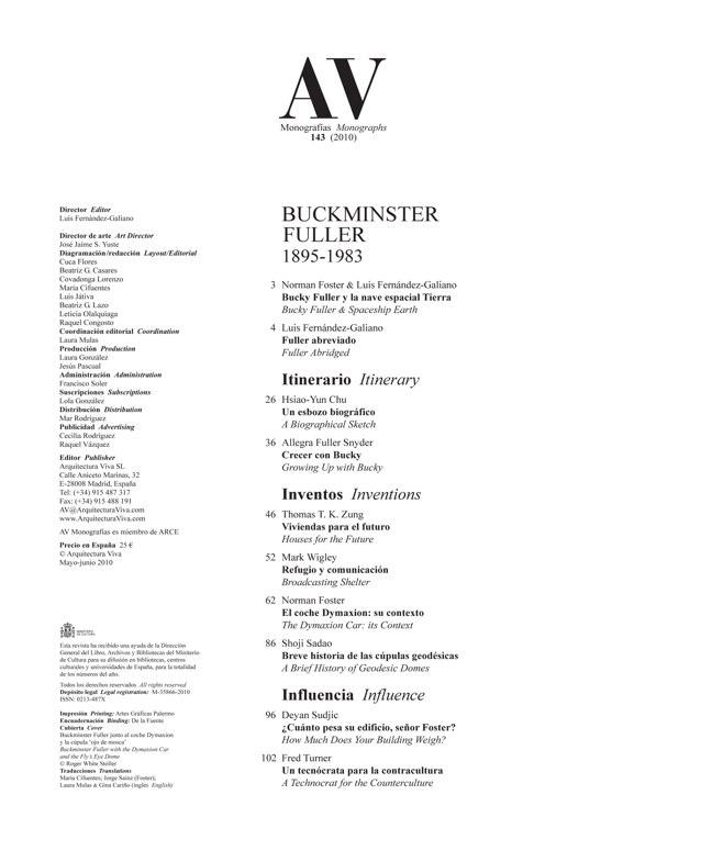 AV Monografías 143 BUCKMINSTER FULLER 1895-1983 - Preview 1