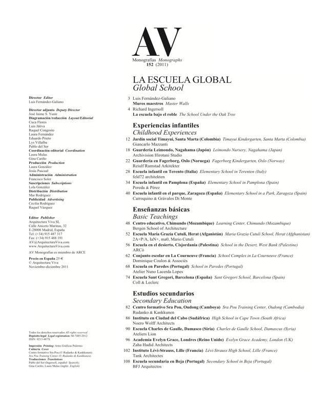 AV Monografías 152 LA ESCUELA GLOBAL Global School - Preview 1