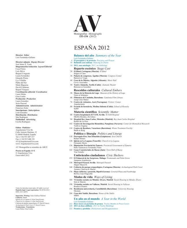 AV Monografías 153-154 SPAIN YEARBOOK – ESPAÑA 2012 - Preview 1
