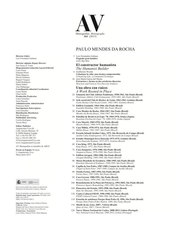 AV Monografías 161 MENDES DA ROCHA - Preview 1