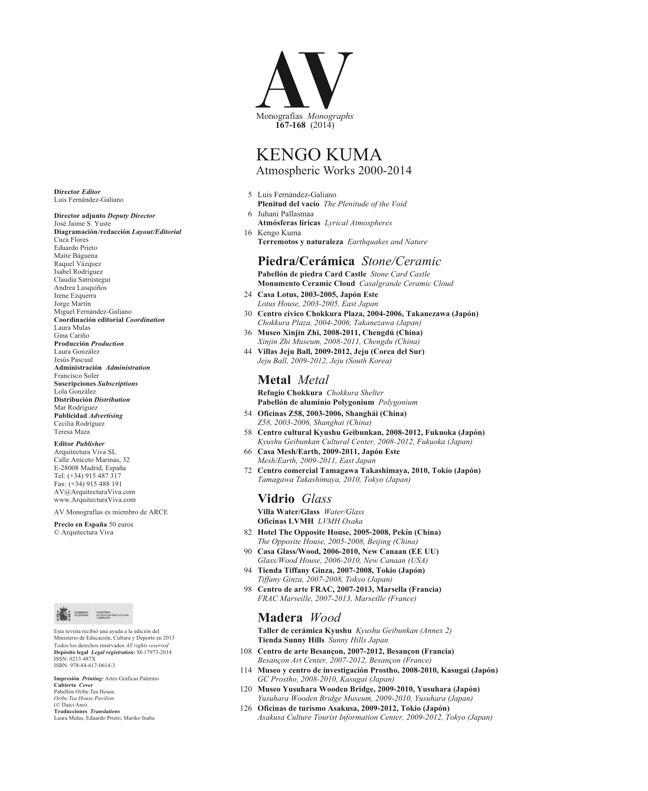 AV Monografías 167-168 KENGO KUMA - Preview 1