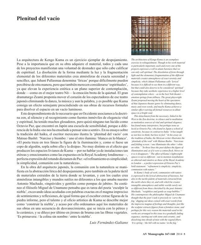 AV Monografías 167-168 KENGO KUMA - Preview 4