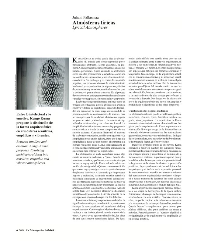 AV Monografías 167-168 KENGO KUMA - Preview 5