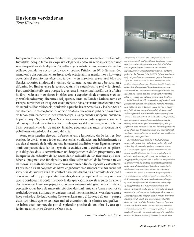 AV Monografías 171_172 SANAA Sejima & Nishizawa - Preview 2