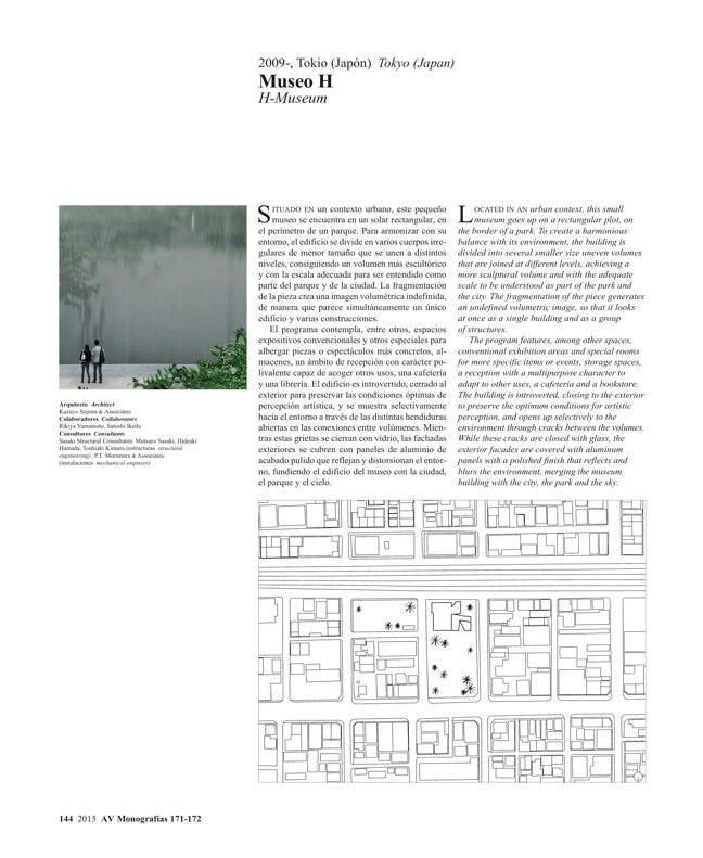 AV Monografías 171_172 SANAA Sejima & Nishizawa - Preview 39
