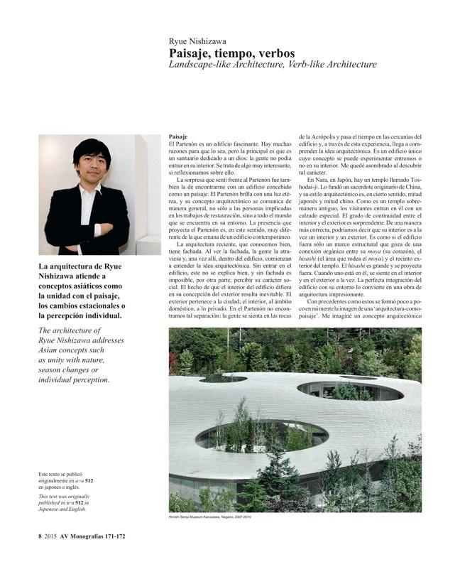AV Monografías 171_172 SANAA Sejima & Nishizawa - Preview 4