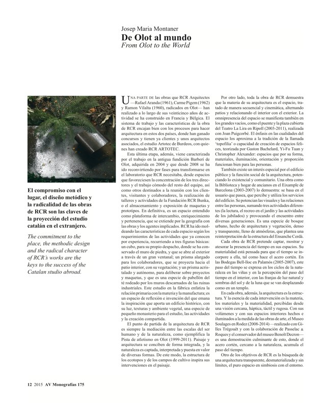 AV Monografias 175 RCR Arquitectes - Preview 4