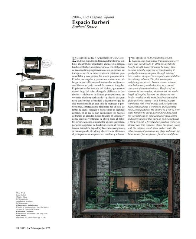 AV Monografias 175 RCR Arquitectes - Preview 5