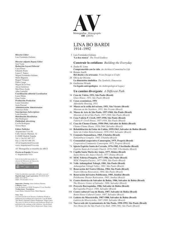 AV Monografias 180 LINA BO BARDI - Preview 1