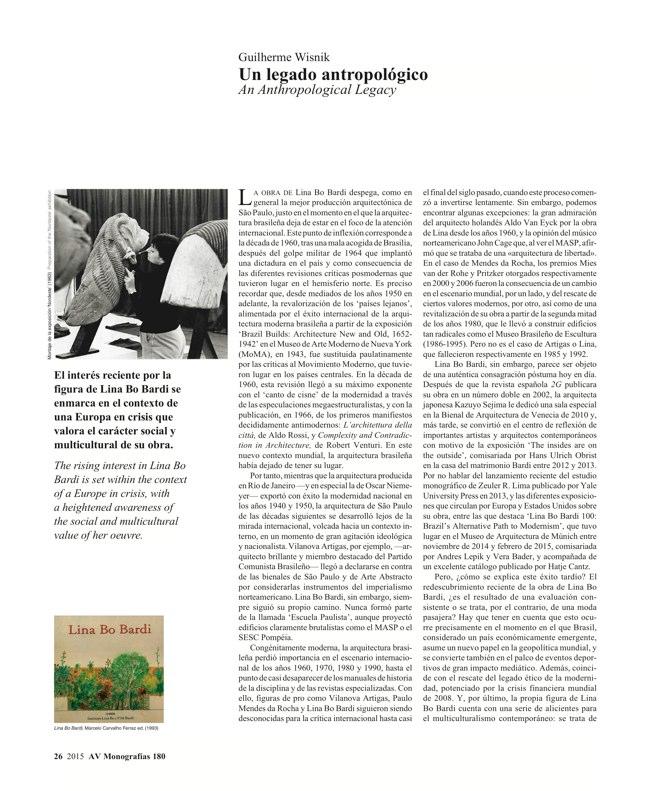 AV Monografias 180 LINA BO BARDI - Preview 7