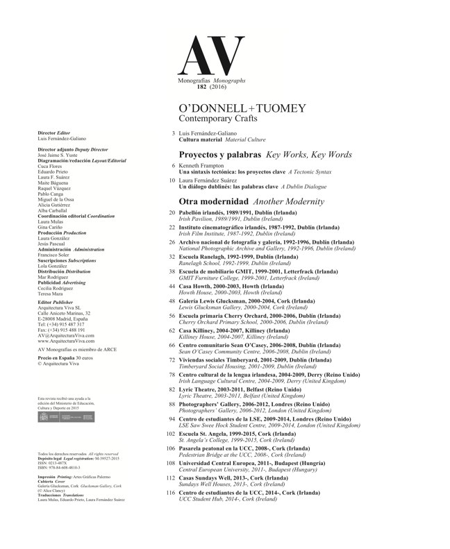 AV Monografías 182 O'DONNELL+TUOMEY - Preview 1