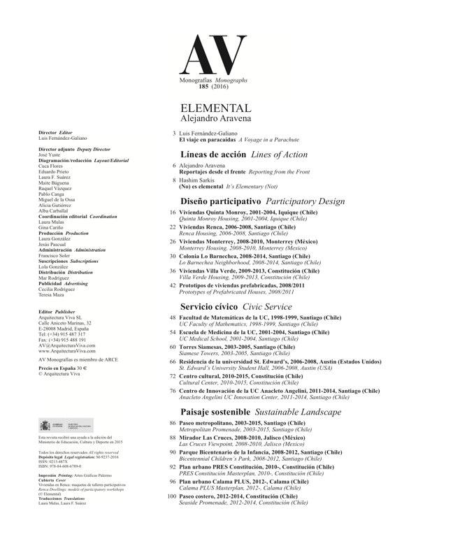 AV Monografias 185 Alejandro Aravena - Preview 1
