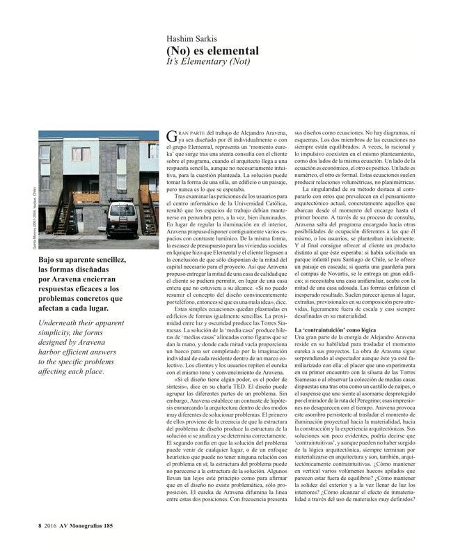 AV Monografias 185 Alejandro Aravena - Preview 5