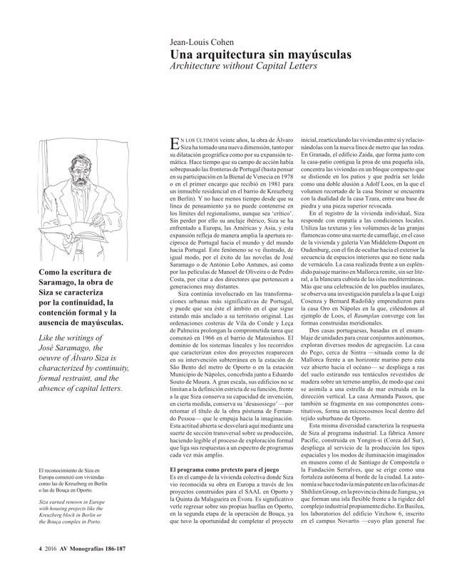 AV Monografias 186-187 ALVARO SIZA - Preview 3