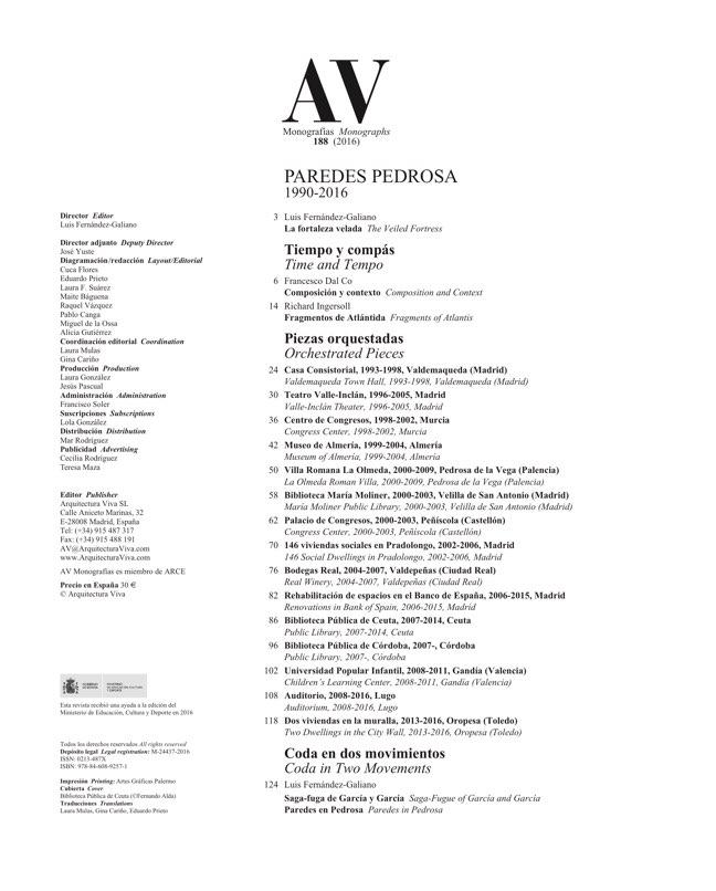 AV Monografías 188 PAREDES PEDROSA - Preview 1
