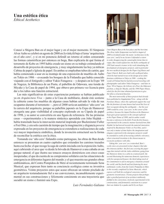 AV Monografias 195 SHIGERU BAN. Social Beauty - Preview 2