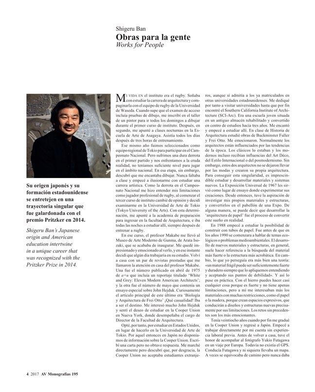 AV Monografias 195 SHIGERU BAN. Social Beauty - Preview 3