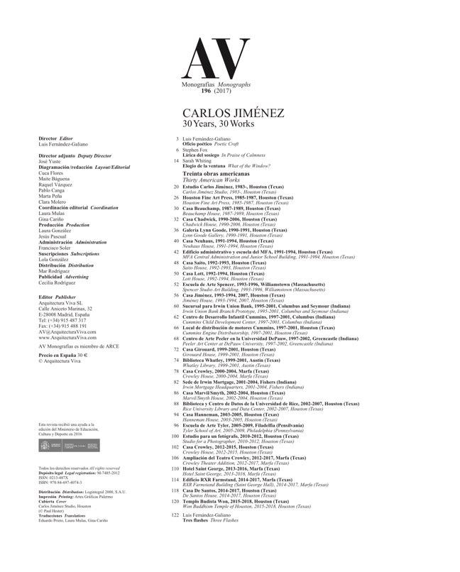 AV Monografias 196 CARLOS JIMENEZ - Preview 1