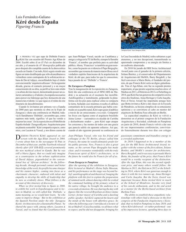 AV Monografias 201 Francis Kéré - Preview 17