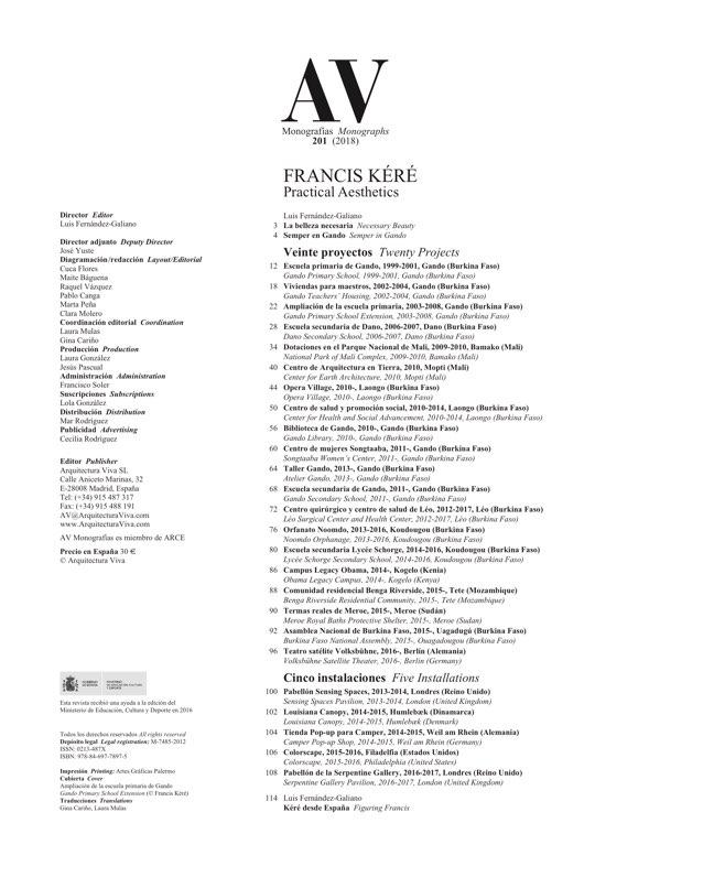 av monografias 201 francis kéré archpapers153 Monografia Preco #1