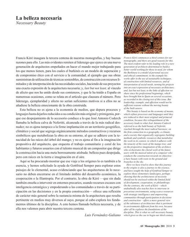 AV Monografias 201 Francis Kéré - Preview 3