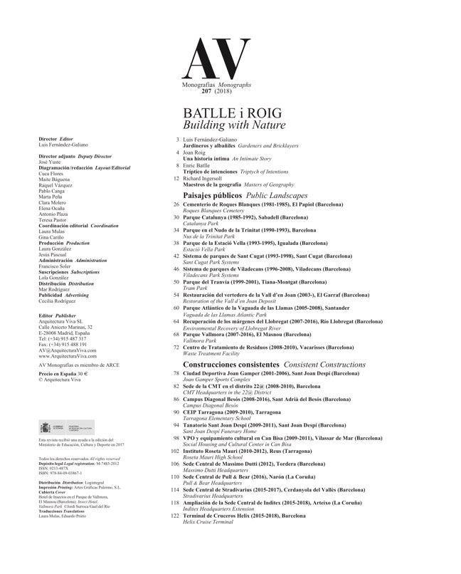 AV Monografias 207 BATLLE i ROIG - Preview 1