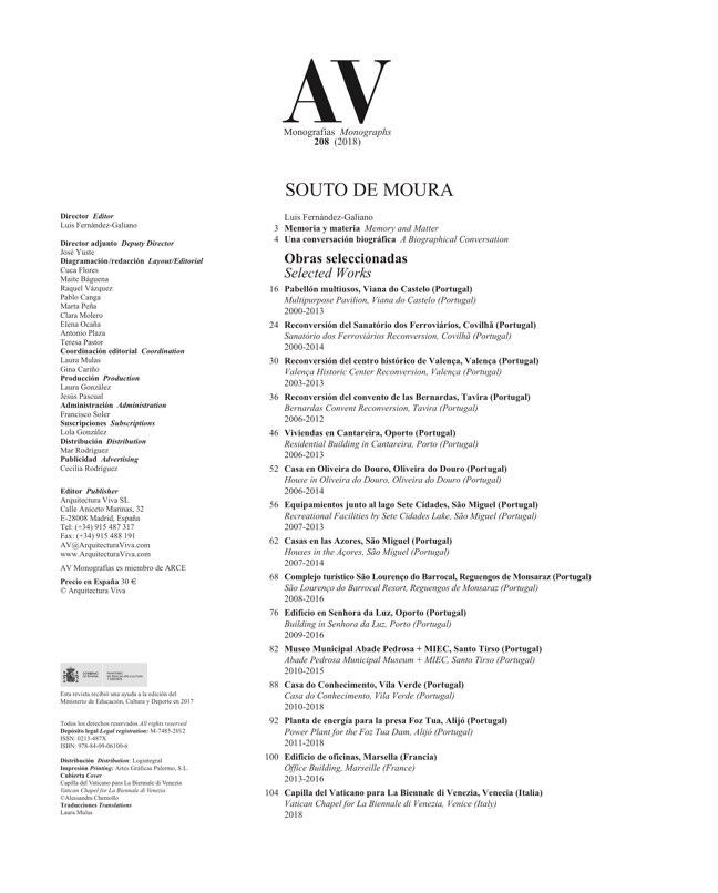 AV Monografias 208 SOUTO DE MOURA - Preview 1