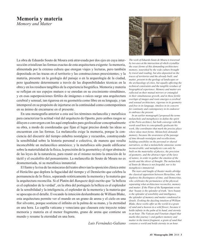 AV Monografias 208 SOUTO DE MOURA - Preview 2