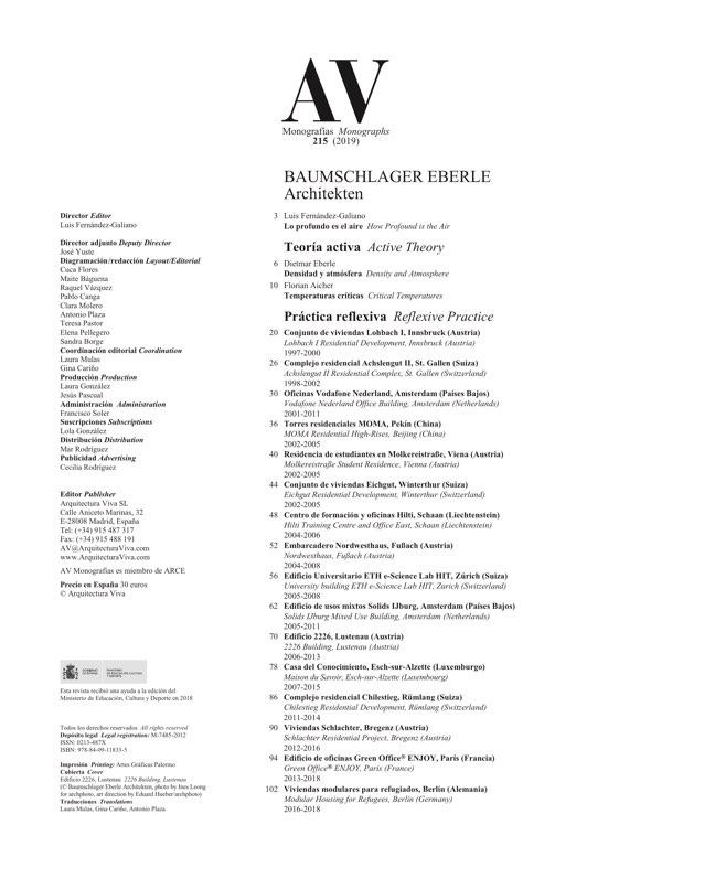 AV Monografias 215 Baumschlager Eberle - Preview 1