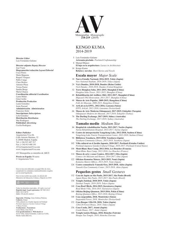 AV Monografias 218_219 KENGO KUMA - Preview 1