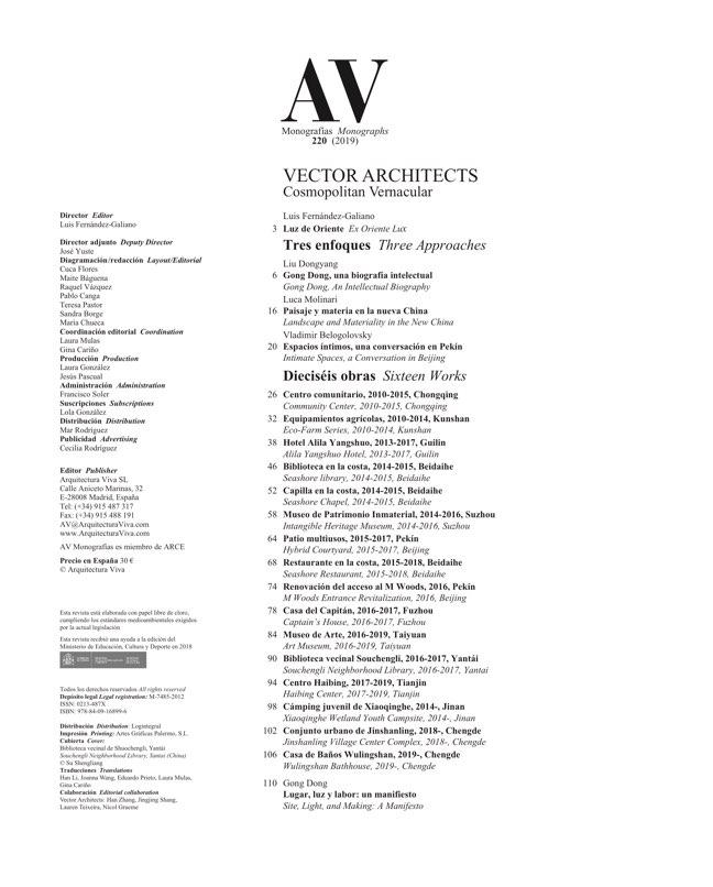 AV Monografias 220 VECTOR ARCHITECTS - Preview 1