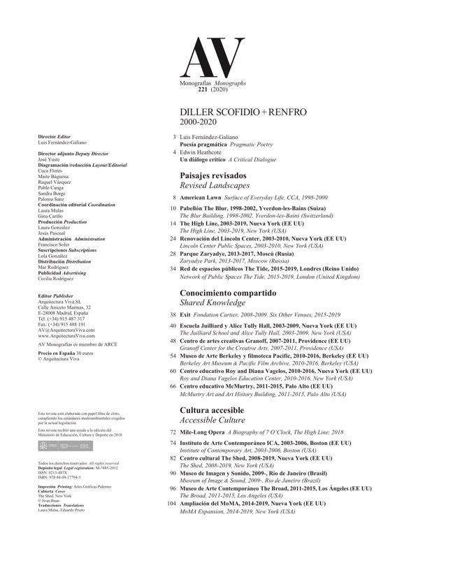 AV Monografías 221 DILLER SCOFIDIO + RENFRO - Preview 1