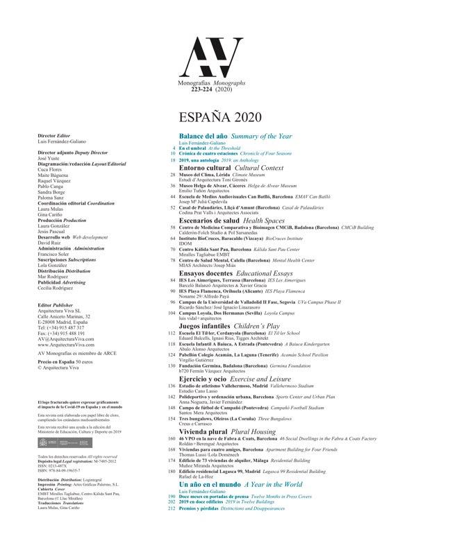 AV Monografias 223_224 2020 Spain YearBook - Preview 1