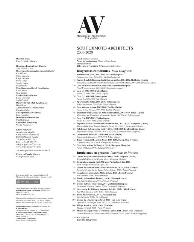AV Monografías 226 SOU FUJIMOTO - Preview 1