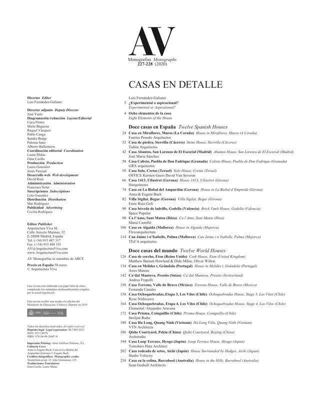 AV Monografias 227_228 CASAS EN DETALLE – 24 World Houses - Preview 1