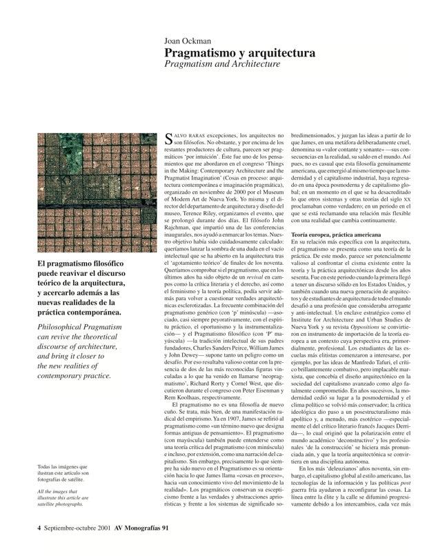 AV Monografías 91 PRAGMATISMO Y PAISAJE / Pragmatism and Landscape - Preview 4
