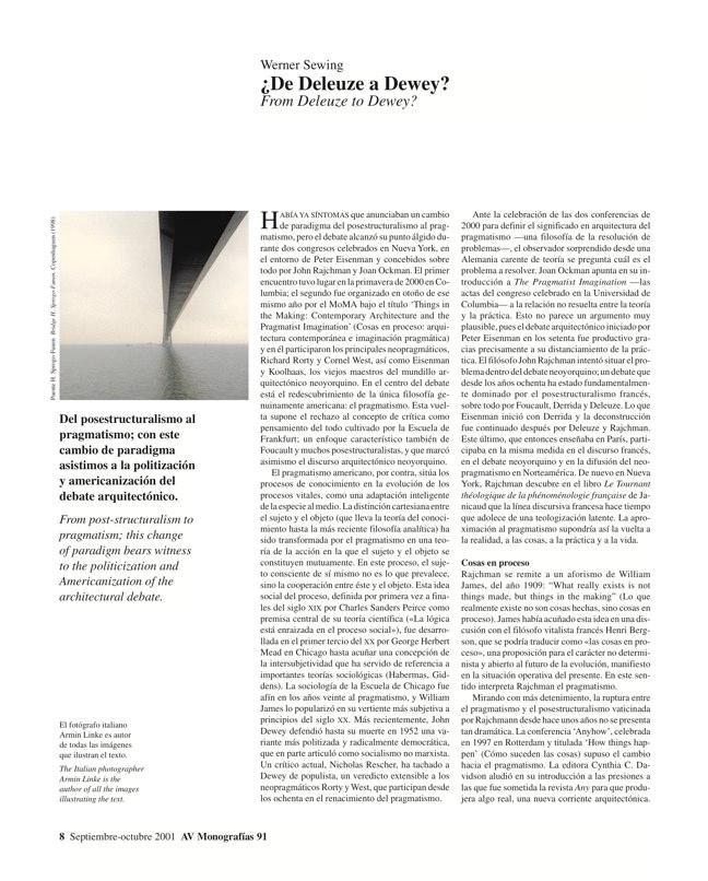 AV Monografías 91 PRAGMATISMO Y PAISAJE / Pragmatism and Landscape - Preview 5