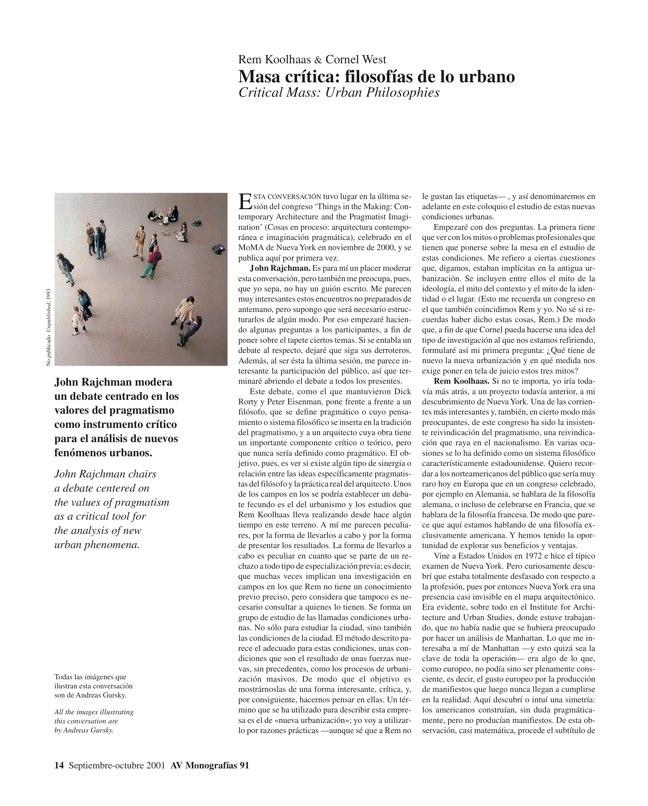 AV Monografías 91 PRAGMATISMO Y PAISAJE / Pragmatism and Landscape - Preview 6