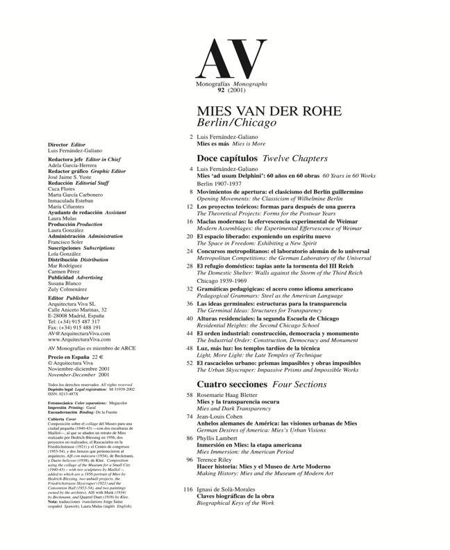 AV Monografías 92 MIES VAN DER ROHE - Preview 1