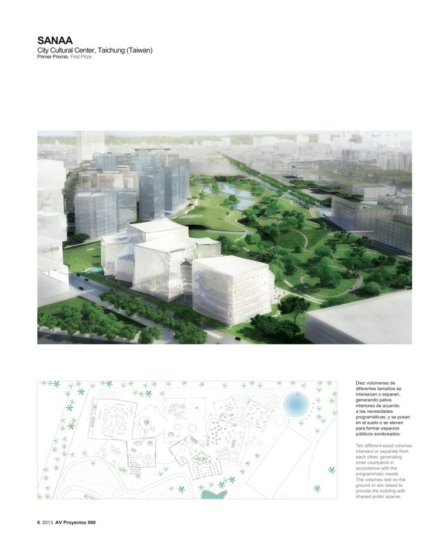 AV Proyectos 060 SANAA in Taiwan I Taichung City Cultural Center Competition - Preview 3