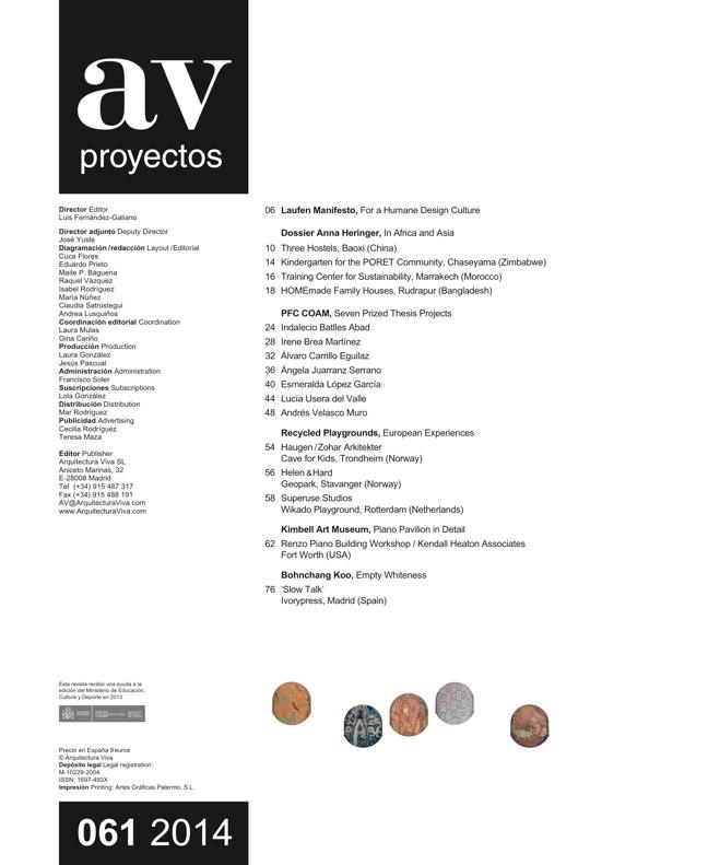 AV Proyectos 061 Dossier Anna Heringer - Preview 1