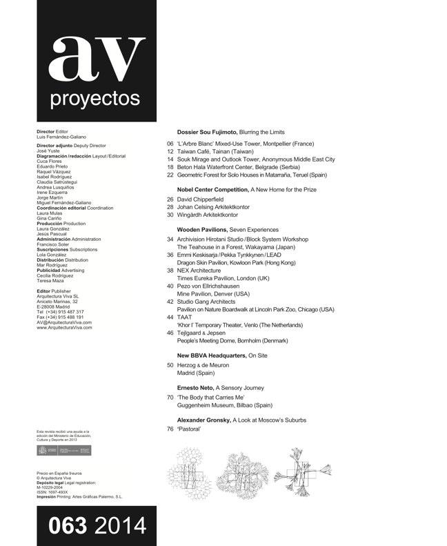 AV Proyectos 063 Dossier Sou Fujimoto - Preview 1