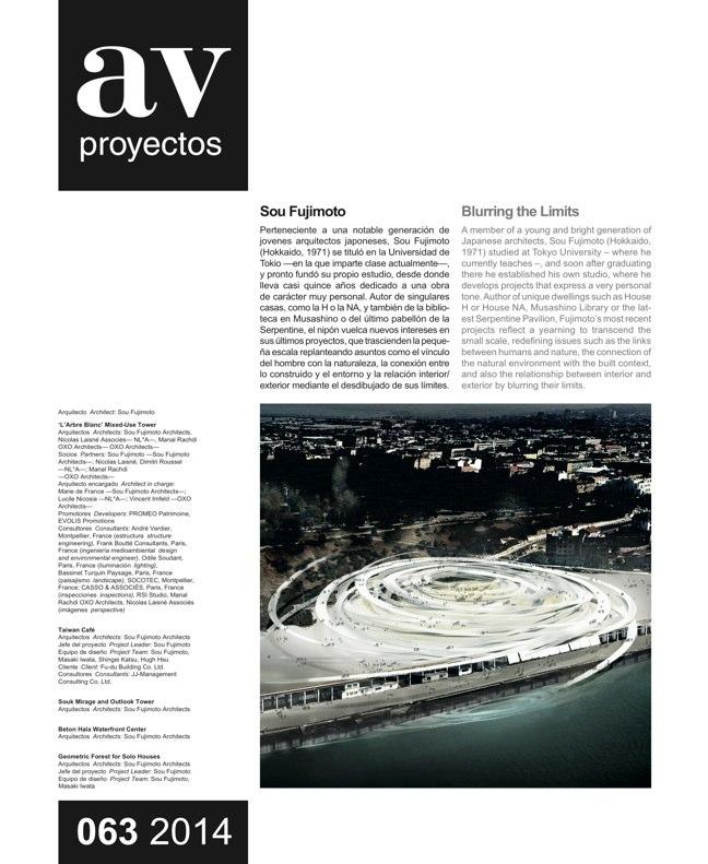 AV Proyectos 063 Dossier Sou Fujimoto - Preview 2
