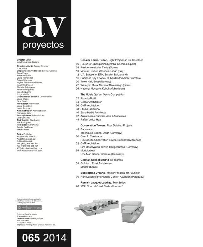 AV Proyectos 065 Dossier Emilio Tuñón - Preview 1