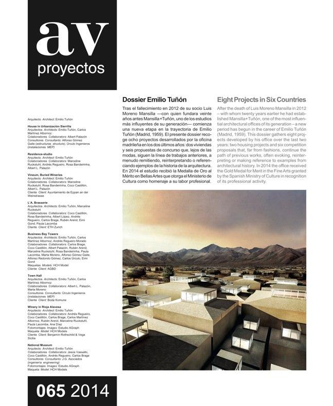 AV Proyectos 065 Dossier Emilio Tuñón - Preview 2