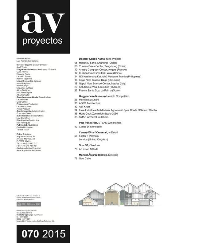 AV Proyectos 070 Dossier Kengo Kuma - Preview 1