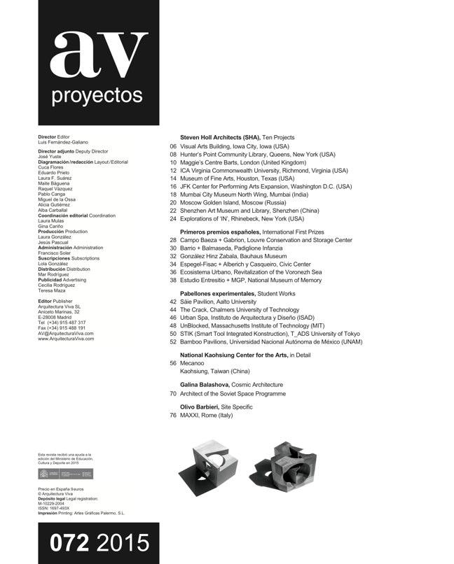 AV Proyectos 072 STEVEN HOLL - Preview 1