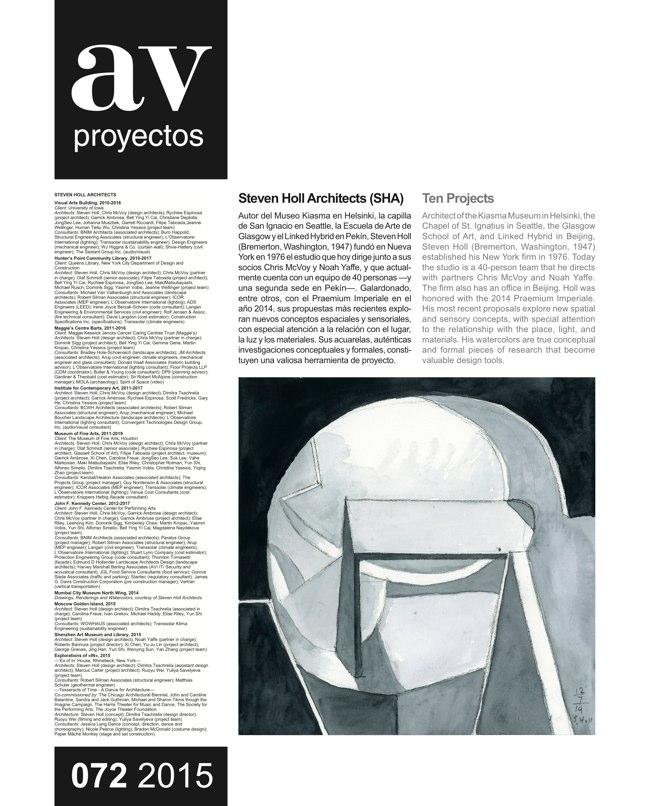 AV Proyectos 072 STEVEN HOLL - Preview 2