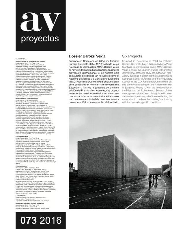 AV Proyectos 073 Dossier Barozzi Veiga - Preview 2